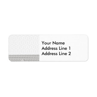 White Nautical Anchor Design with Rope Return Address Label