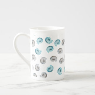 White Nautilus Argonaut Pattern Tea Cup