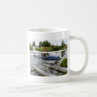 White & navy float plane, Alaska Coffee Mug
