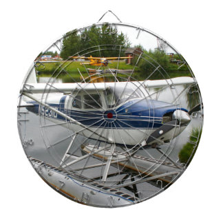 White & navy float plane, Alaska Dartboard
