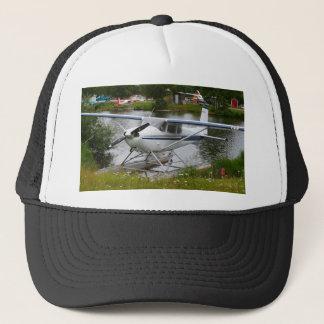 White, navy & grey float plane, Alaska Trucker Hat