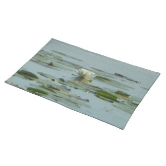 White Nenuphar Dragonfly Placemats
