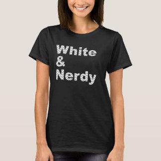 White & Nerdy Design T-Shirt
