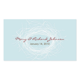 White Nest Favor Tag Pack Of Standard Business Cards