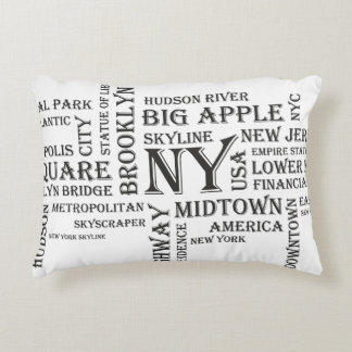White New York Decorative Cushion