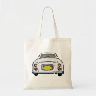 White Nissan Figaro Car Tote Bag