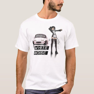 White Noise MX5 Miata T-Shirt