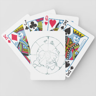 White North Pole AE Map Bicycle Playing Cards