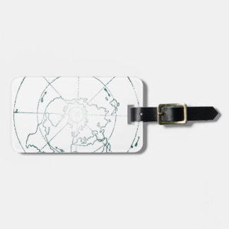 White North Pole AE Map Luggage Tag
