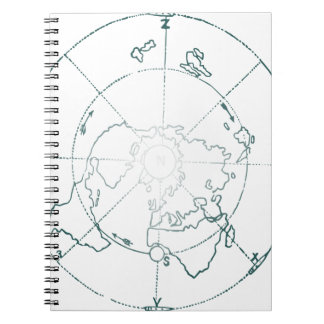 White North Pole AE Map Notebooks