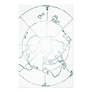 White North Pole AE Map Stationery