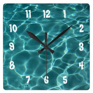 White Numbered Photo Wall Clock