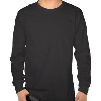 White On Black Shirt