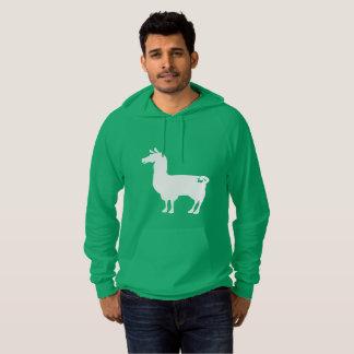 White On Colour Llama Hoodie