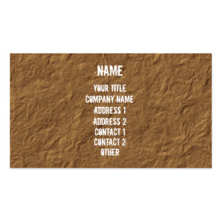 White on Crinkled Parchment Business Card Template