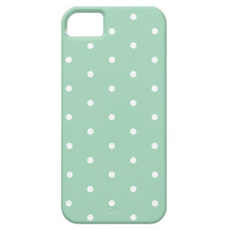 White on Mint Polka Dots Barely There iPhone 5 Case