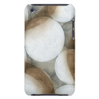 White Orbs & Brown Circles Barely There iPod Case
