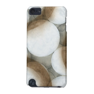 White Orbs & Brown Circles iPod Touch (5th Generation) Case