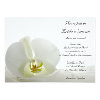 White Orchid and Bridal Veil Wedding 13 Cm X 18 Cm Invitation Card