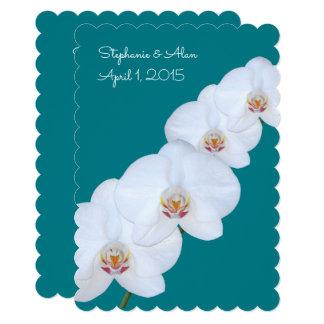 White Orchid Branch Wedding Invitation