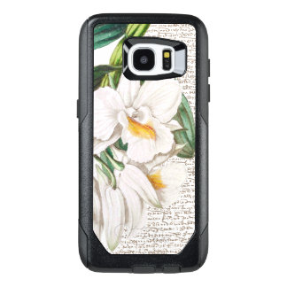 White Orchid Calligraphy OtterBox Samsung Galaxy S7 Edge Case