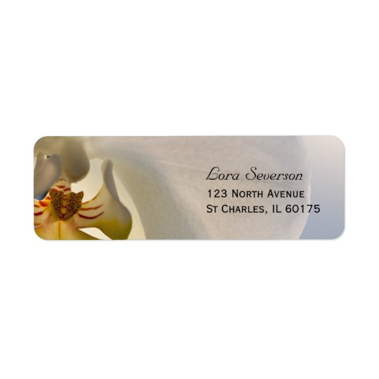 White Orchid Elegance Return Address Return Address Label