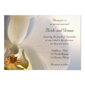 White Orchid Elegance Wedding Invitation