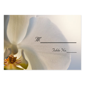 White Orchid Elegance Wedding Place Card Pack Of Chubby Business Cards