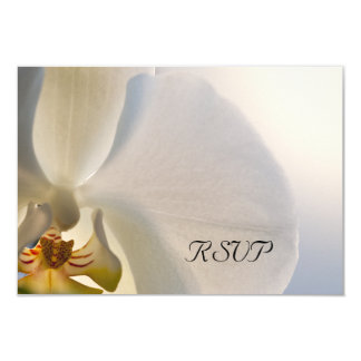 White Orchid Elegance Wedding RSVP Response Card