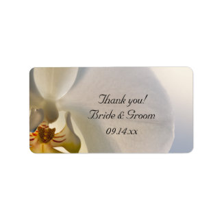 White Orchid Elegance Wedding Thank You Favor Tags Address Label