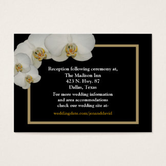 White Orchid enclosure cards