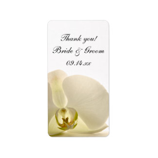 White Orchid Flower Wedding Thank You Favor Tags Address Label