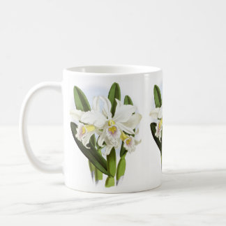 White Orchid Flowers Mug