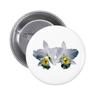 White Orchid Hawaiian Wedding Song Button