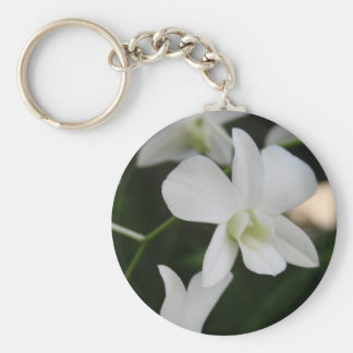 White Orchid Keychain