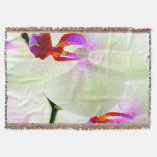 White Orchid Love Throw Blanket