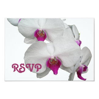White Orchid RSVP Card