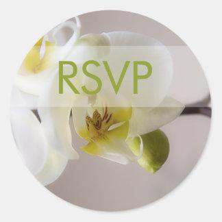 White Orchid • RSVP Sticker