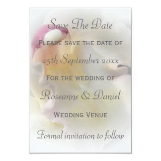 White Orchid Save The Date Card