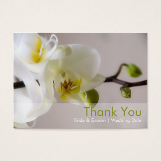 White Orchid • Wedding Favour Tag
