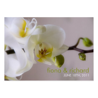 White Orchid • Wedding Favour Tag Business Card Templates