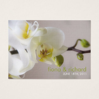White Orchid • Wedding Favour Tag Business Card