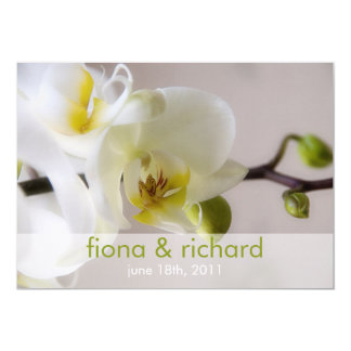 White Orchid • Wedding Invitation