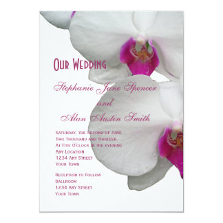 White Orchid Wedding Invitation