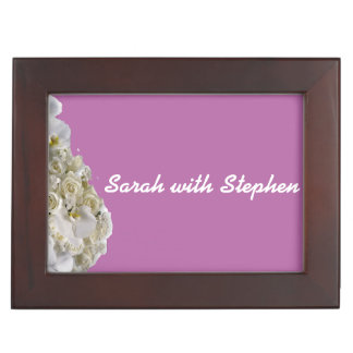 White Orchid Wedding Keepsake Boxes