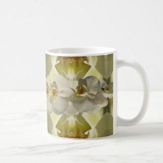 White orchid wedding mug
