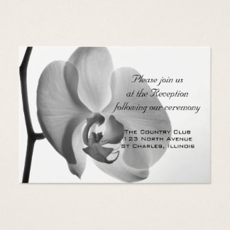 White Orchid Wedding Reception Card