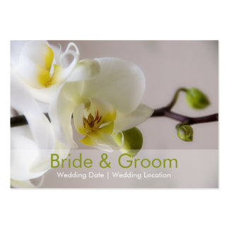 White Orchid • Wedding Website Business Card