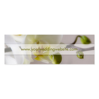 White Orchid • Wedding Website Profile Card Business Card Templates