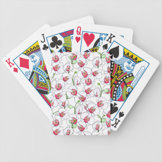 White orchids. bicycle playing cards